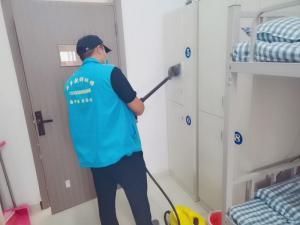 长垣学校7000平米宿舍楼室内净化进行中